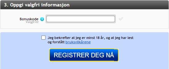 norgesautomaten bonuskode